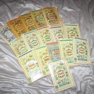 Lot of 16 The Farmers Almanac books